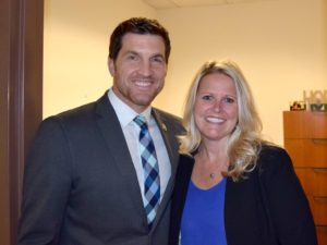 Congressman Taylor and Wendy Weinbrecht (Purchasing Agent)
